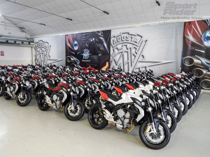New models in higher numbers. The expanding MV Agusta lineup excited many in the couch-surfing classes, but few actual buyers. Photo : Sport Rider