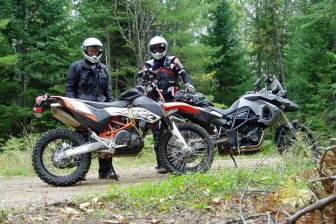 Jim Vernon and Rob take on the Calabogie Boogie. Dual sport events were always high on Rob's to-do list.
