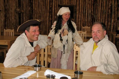 Rob left the tricorn hat back at Louisbourg when he left, as it didn't meet CSA helmet standards.
