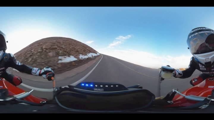 Video: A 360-degree rip up Pikes Peak aboard the Victory Empulse RR