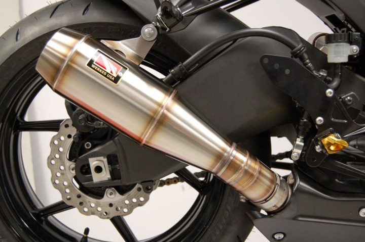 Looks good, and according to the manufacturer this pipe frees up serious power. But does that make it a better real world motorcycle?