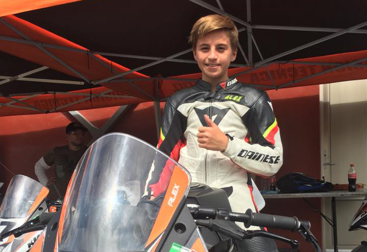 Alex Dumas will ride this KTM RC390 next summer