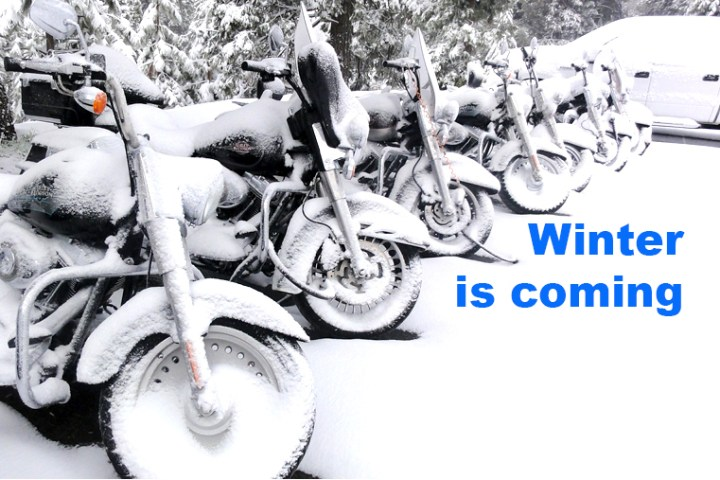 How to: Store your motorcycle for winter