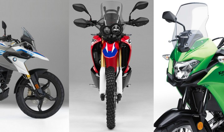 Showroom Showdown: Versys-X 300 vs. CRF250 Rally vs. G310 GS