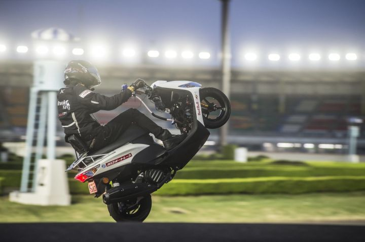 Japanese man rides scooter to new national wheelie record