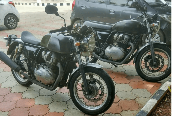 Here's yet another spy shot of the Royal Enfield 750 twin