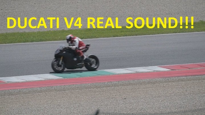 Spied! Here's another fleeting glimpse of the Ducati V4