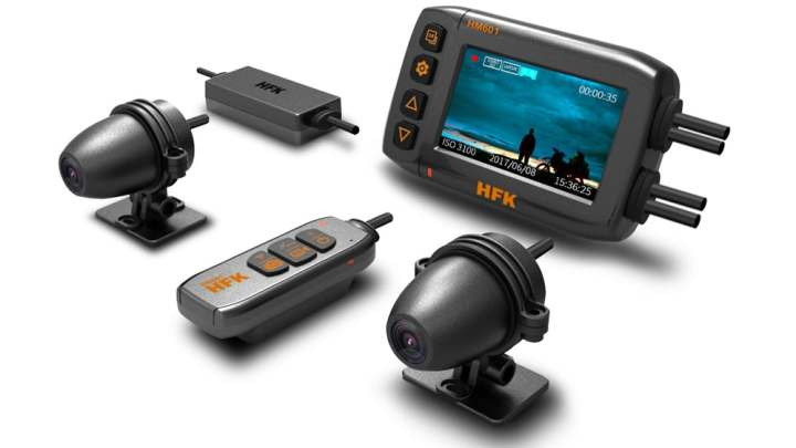 Motorcycle dash cam with live streaming unveiled in China