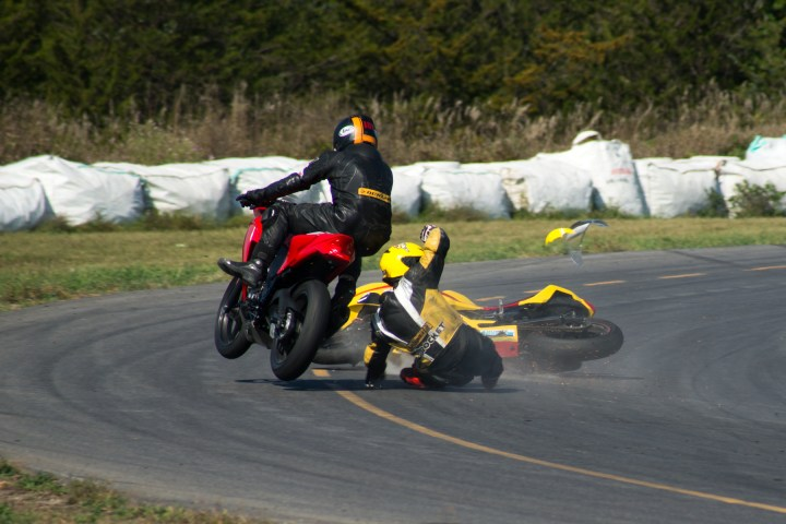 Hitting the bottle on the track