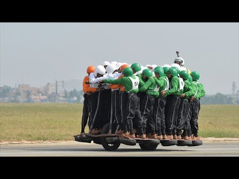 Indian military sets new 58-rider motorcycle record
