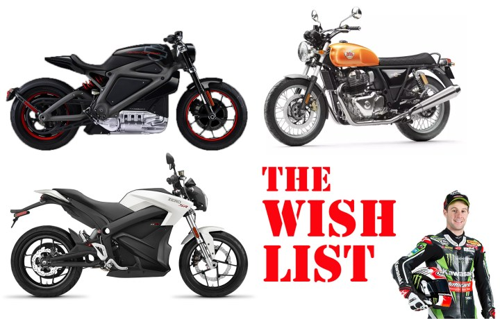 Zac's Motorcycling Wish List