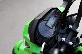 The Z125 has a digital speedometer and an analogue tach; I've seen worse gauges on motorcycles that cost almost five times as much.