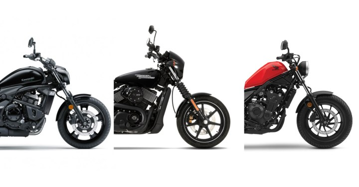 Showroom Showdown: Vulcan S vs. Street 750 vs. Rebel 500