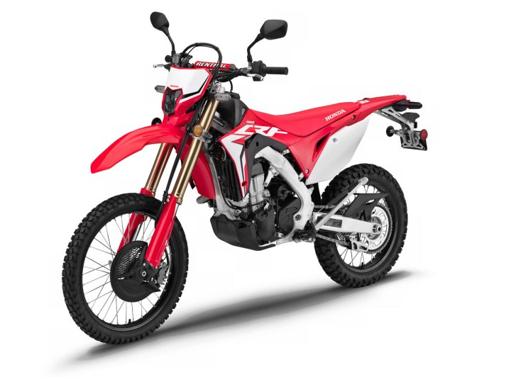 Street-legal Honda CRF450L dual sport breaks cover