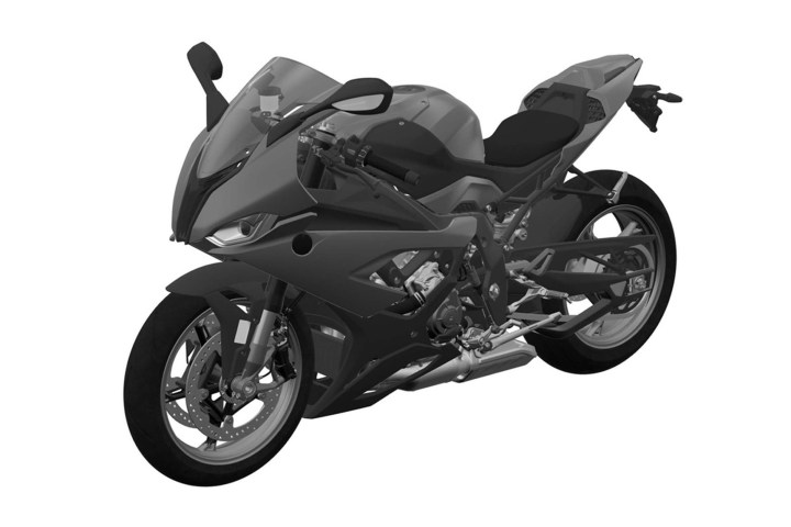 Patent drawings of new BMW S1000RR surface