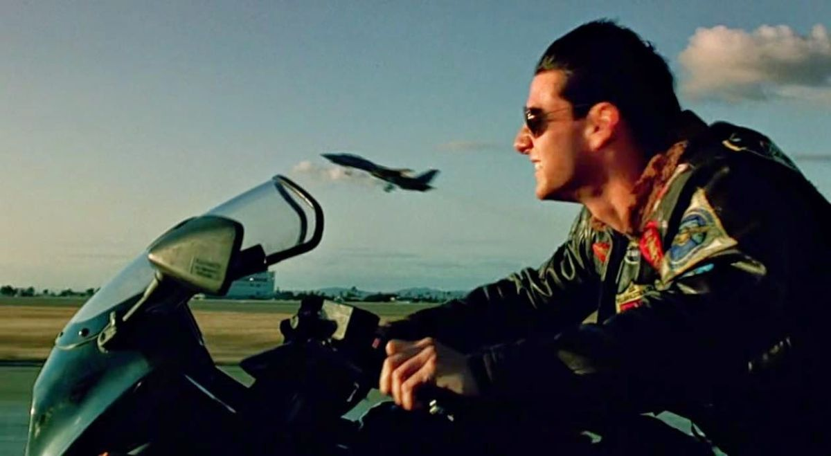 Why doesn't Tom Cruise wear a motorcycle helmet?