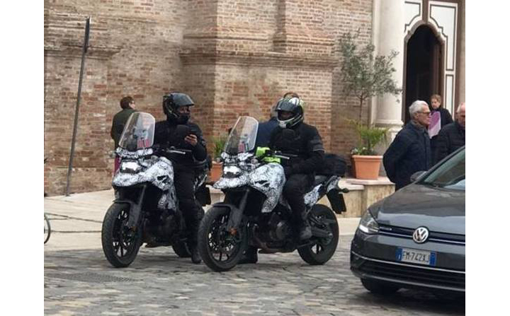 "V-Strom based ""DR Big"" spotted testing"