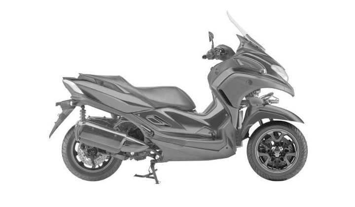 Spied! Yamaha is building the 3CT leaning three-wheeled scooter