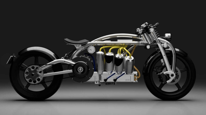 Curtiss Zeuss prototype sketches show V8-styled battery bike