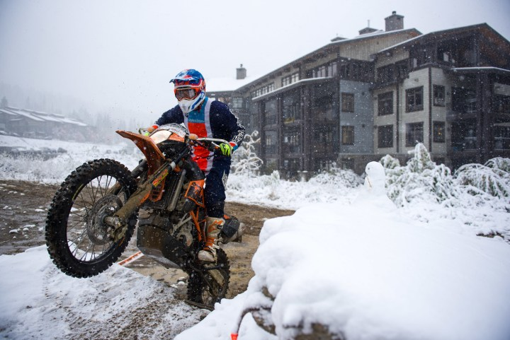 Snowed out! Zac vs. the KTM Adventure Rally