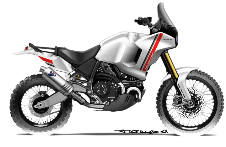 Ducati officially shows off Desert X, Motard concepts