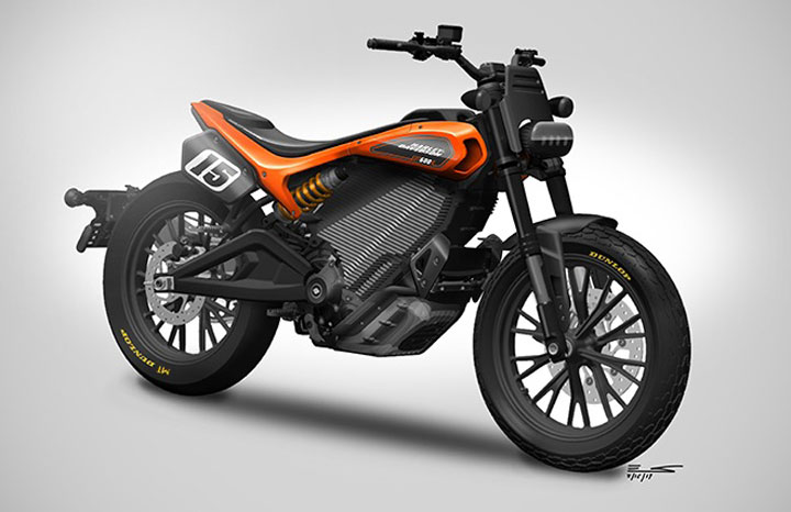 "Harley-Davidson goes flat track for its ""mid-range"" electric motorcycle"