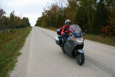 Riding-BMW-K1300GT-in-Ontario