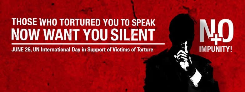 Campaign image torture silence
