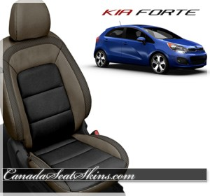 2014 - 2016 Kia Forte Saddle Brown Carbon Leather Seats