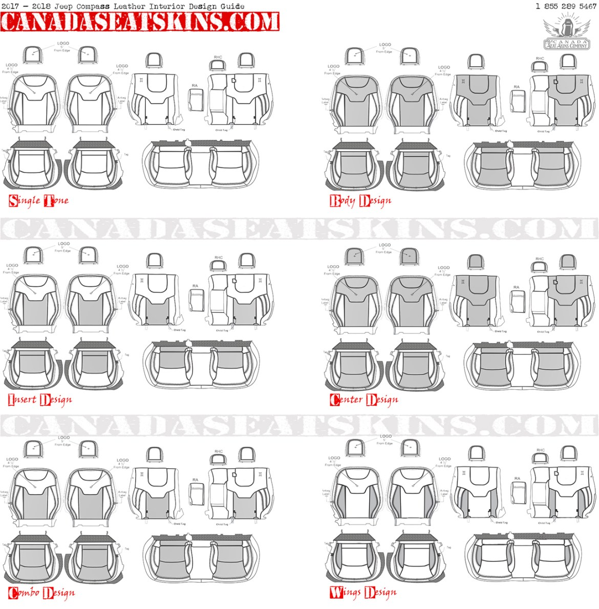 017 - 2018 Jeep Compass Leather Interior Design Guide