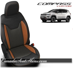 2018 Jeep Compass Custom Orange Leather Seats