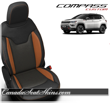 Order 2018 Jeep Compass Custom Katzkin Orange Leather Seats