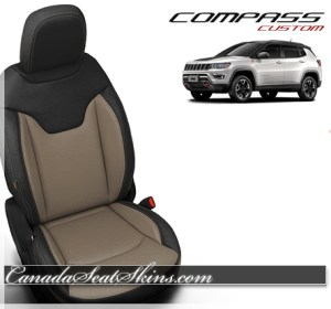 2018 Jeep Compass Black Puddy Leather Seats