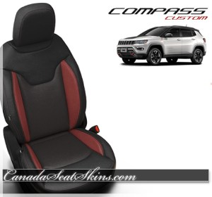 2018 Jeep Compass Black Red Leather Seats