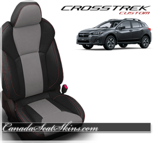 2018 Subaru Crosstrek Katzkin Ash Grey Leather Seats