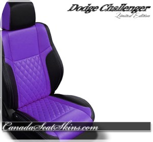2018 Challenger Diamond Stitched Leather Design in Purple