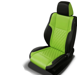 Challenger Lime Leather Seats