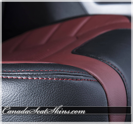 2015 - 2018 F150 Limited Edition Leather Interior Stitching Detail