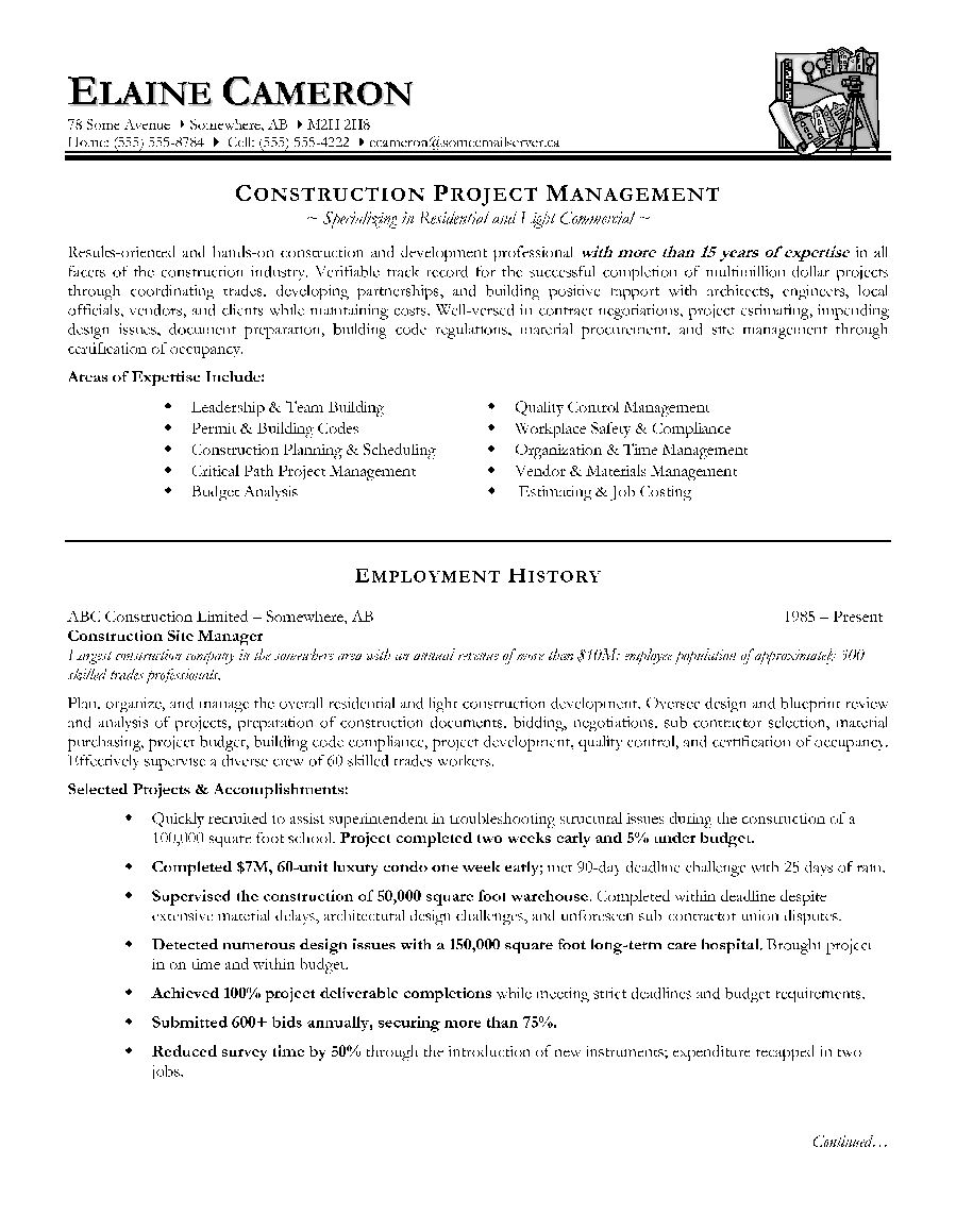 project manager resume writing service career academy