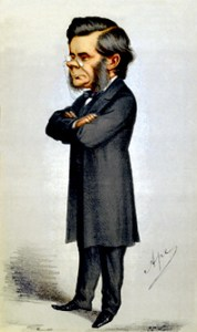 Thomas Huxley as drawn in Vanity Fair, 1871