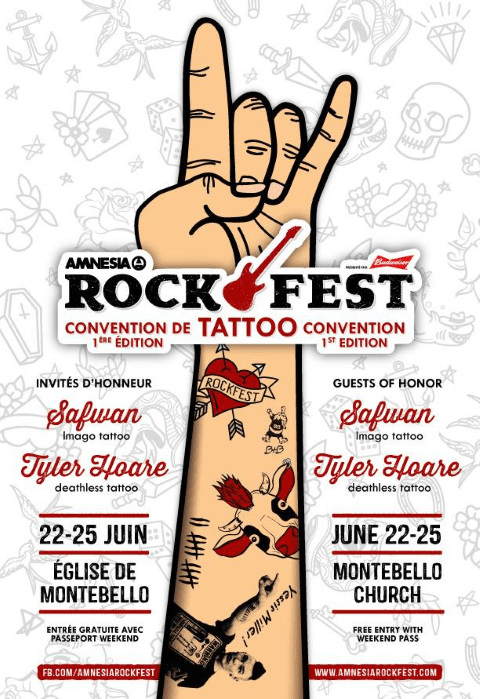 Amnesia Rockfest adds a Tattoo convention during the weekend