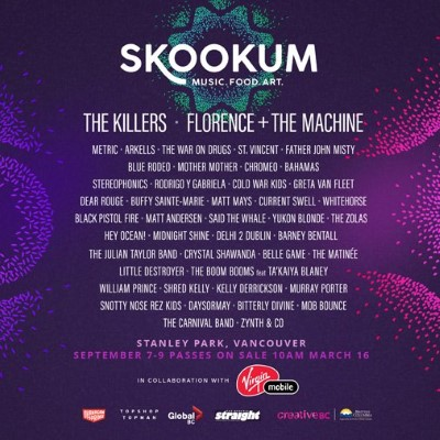 Skookum festival announces lineup for 2018 canadian beats media including florence the machine metric arkells mother mother chromeo and many more artists at the skookum festival a three day event being held in malvernweather Gallery