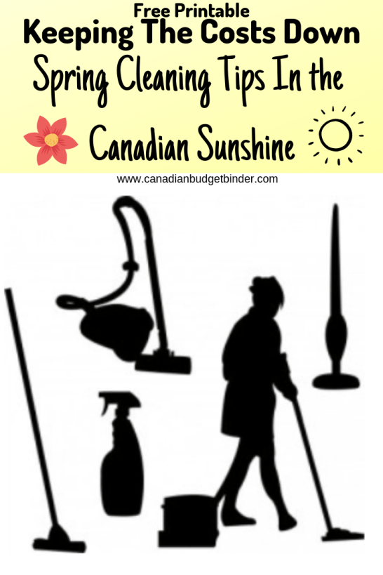 spring cleaning in the Canadian sunshine spring cleaning checklist