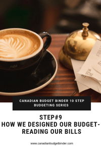 CANADIAN BUDGET BINDER 10 STEP BUDGETING SERIES-8 Reading our bills