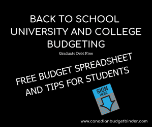 BACK TO SCHOOL UNIVERSITY AND COLLEGE BUDGETING