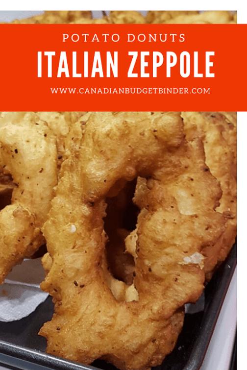 potato donuts Italian