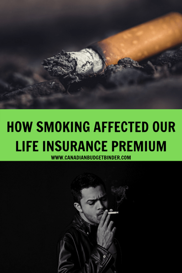 smoking life insurance premium costs Canada