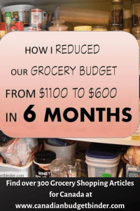 reduced grocery budget Canada
