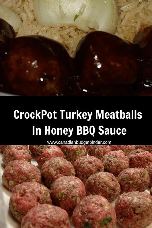 Turkey Meatballs In Honey BBQ Sauce