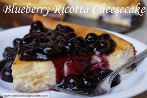 Creamy Blueberry ricotta cheesecake